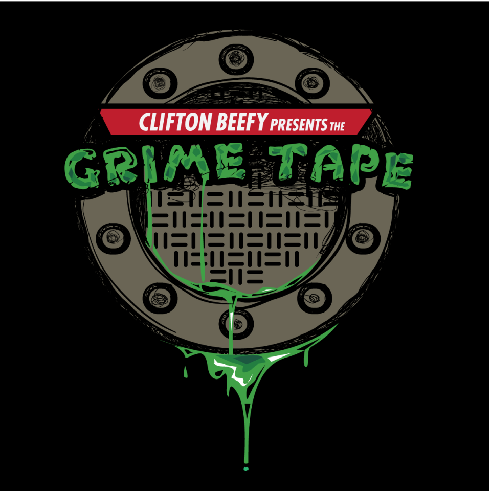 the grime tape cover art clifton beef basement made