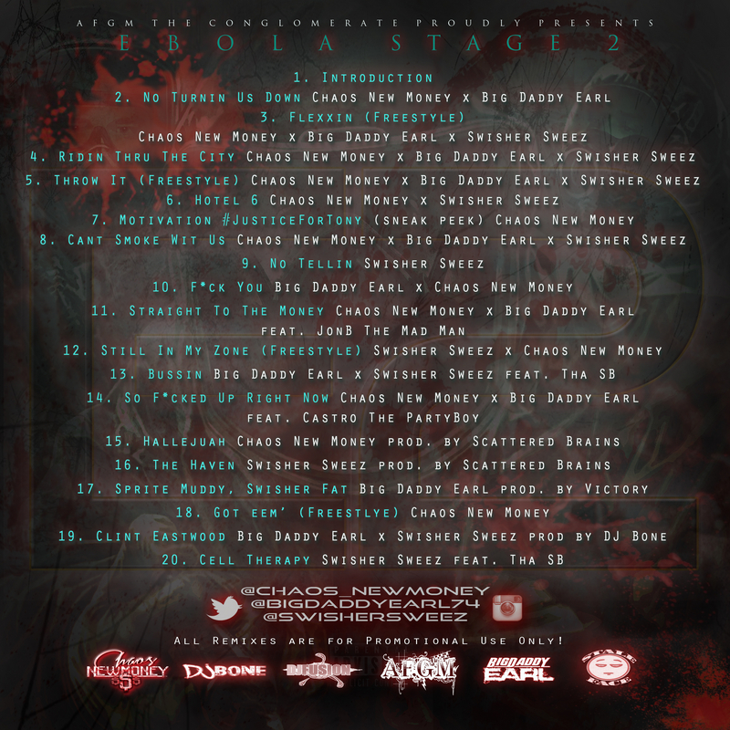 Chaos NewMoney ft. Swisher Sweez - #E2 Ebola Part 2 tracklist cover art
