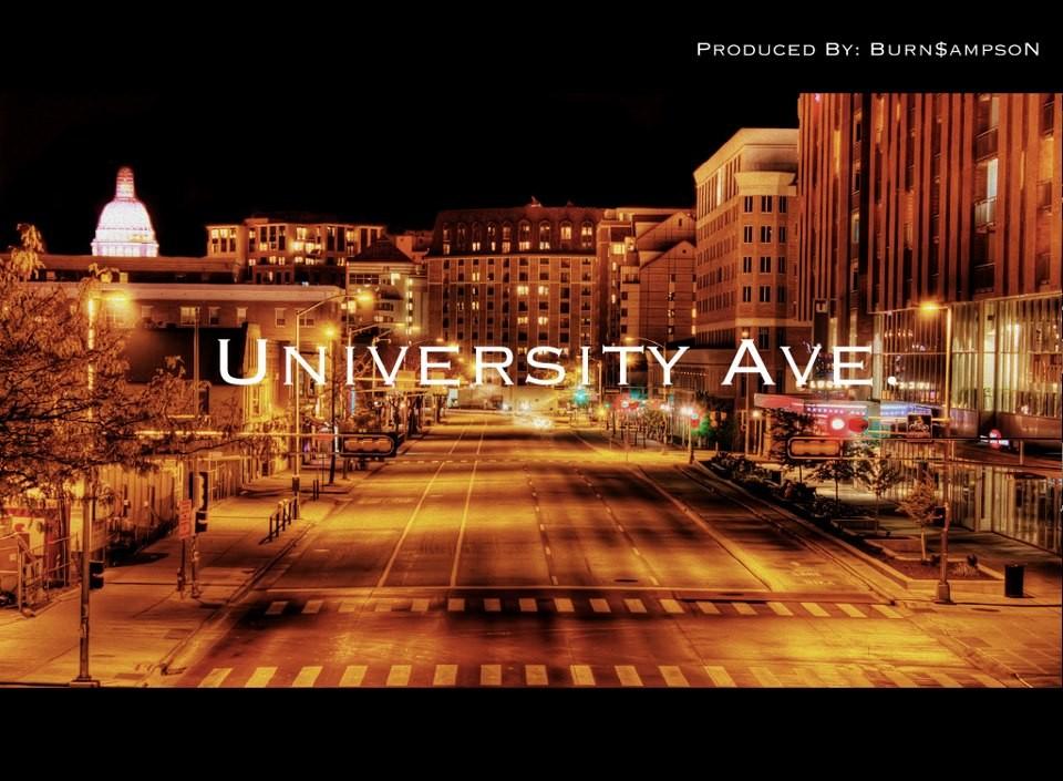 3rd Dimension - University Ave. mixtape cover art basement made