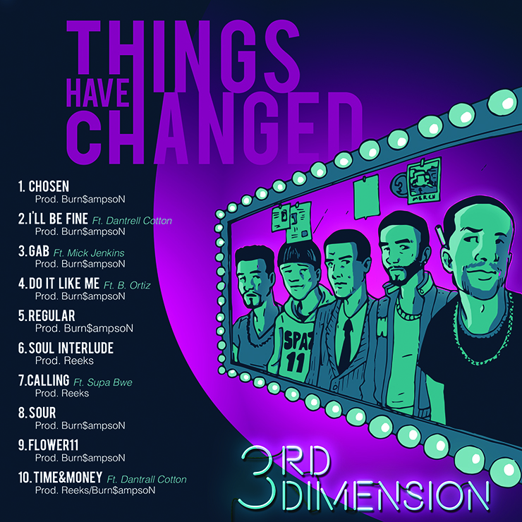 3rd Dimension - Things Have Changed tracklist cover art