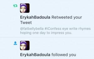 Reggie Bonds and Erykah Badu Tweet