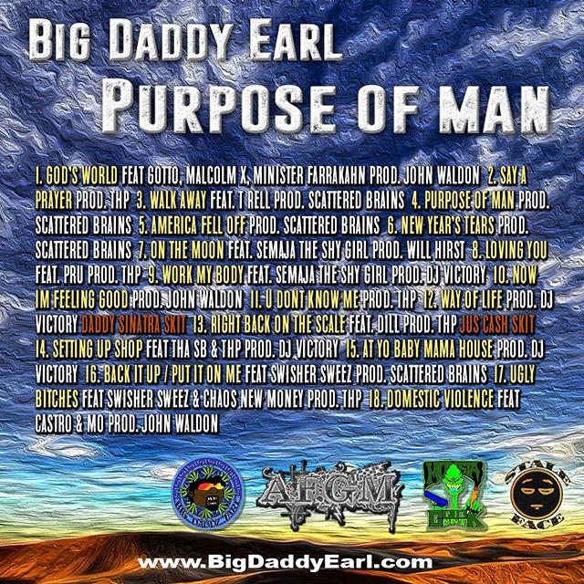 Big Daddy Earl - Purpose of Man tracklist cover art