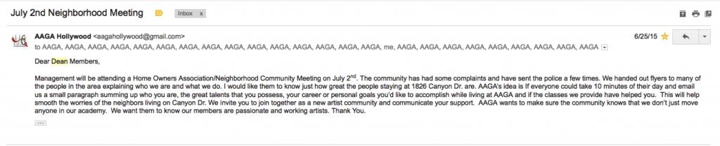 AAGA Hollywood homeowners meeting July 2 2015 PLUM