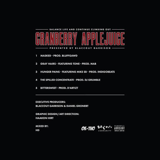 Blaccout Garrison - Cranberry Applejuice EP cover art