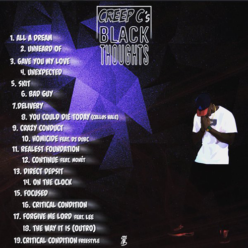 Creep C - Black Thoughts tracklist cover art