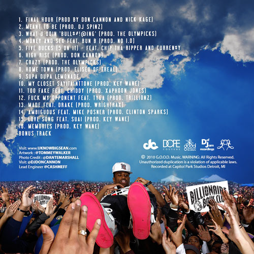 Big Sean Finally Famous 3 BIG mixtape tracklist cover art Basement Made
