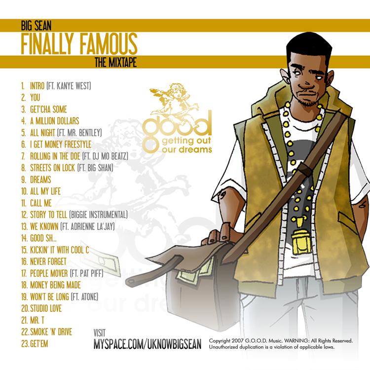 Big Sean Finally Famous The Mixtape tracklist cover art Basement Made