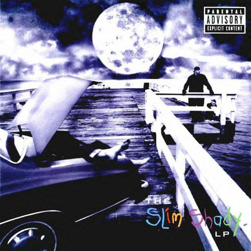 Eminem The Slim Shady LP cover art Basement Made