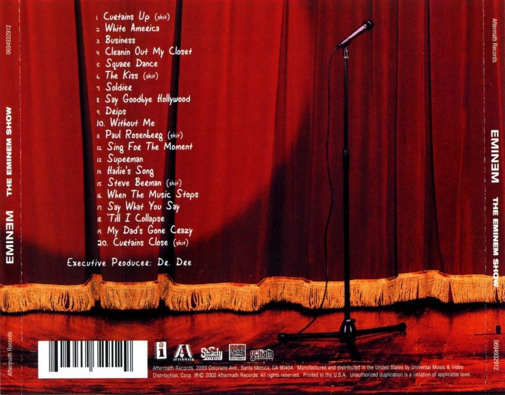 The Eminem Show album tracklist cover art Basement Made
