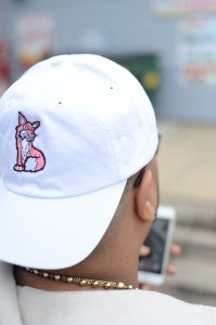 Cleo Fox III white fox hat merch Basement Made
