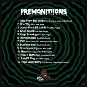 Mike Regal Premoniitions album cover art tracklist Basement Made