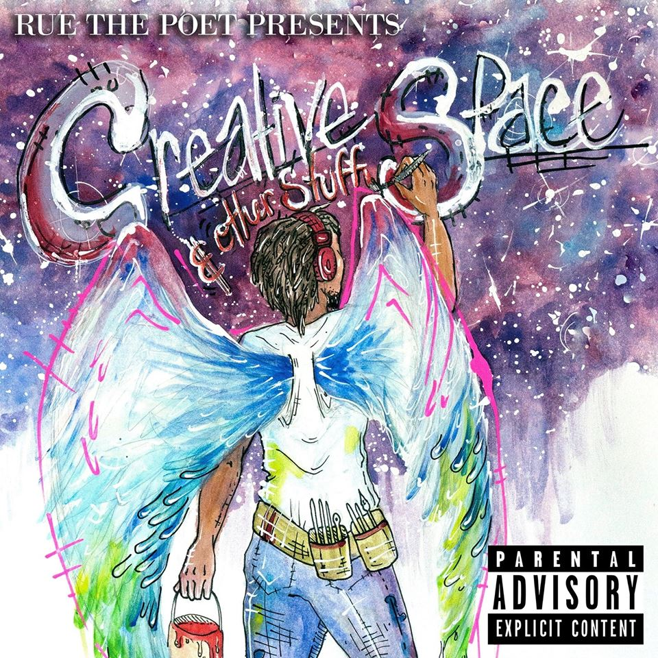 Rue The Poet - Creative Space and other stuff basement made cover art