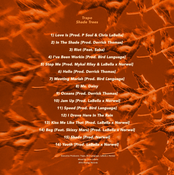 Trapo - Shade Trees tracklist basement made cover art