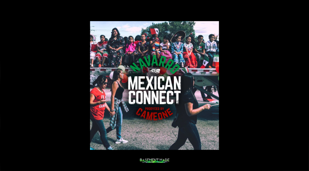 Navarro Mexican Connect cameone cover art basement made